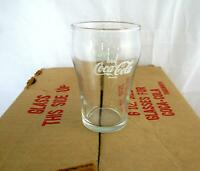 "Lot of 12 Mini vintage Coca Cola Drinking Glasses  4 "" tall, 6 oz NEW!"