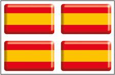 Pegatinas Bandera rectangular España 4 uds. 30x18 mm/ud. RESINA