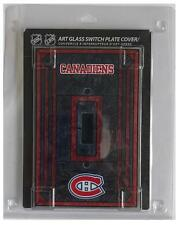 """(HCW) Montreal Canadiens 5""""x3.5"""" Art Glass Switch Plate Cover With Screws"""
