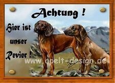 Bayrischer Gebirgsschweißhund  / Jagdhund / Türschild / Warnschild
