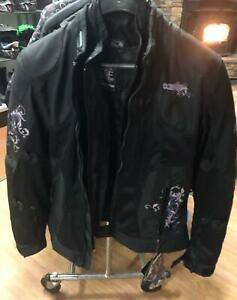 Castle Prism woman's motorcycle jacket, grape, large