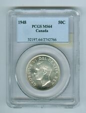 CANADIAN 50 Cents 1948, PCGS-64++.Cat:$1400