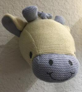 Giraffe Head Nursery Wall Decor Stuffed Plush Dan Dee Crochet Knit Look