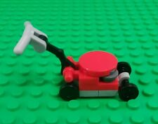 *NEW* Lego Small Red Lawnmower Grass Cutter Lawn Garden Setting Figures Fig x 1