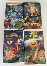 Lot of 4 VHS Tapes - LAND BEFORE TIME ~ Big Freeze, III, VI and VII (3, 6, 7)