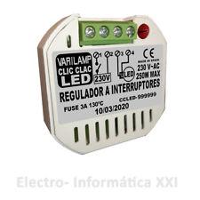 Regolatore Di Intensità Clic-Clac Led 250W Varilamp Interruttori Lampade Led