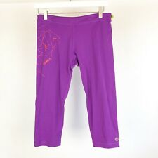 Zumba Womens Size Medium Purple capri tights fitness Zumba
