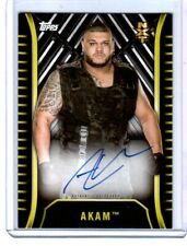 WWE Akam A-AK 2018 Topps NXT Authentic Autograph Card