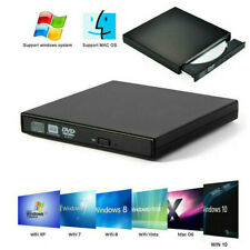 Slim External USB DVD RW CD Writer Drive Burner Reader Player For Laptop PC