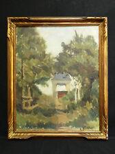 Ancienne Huile sur panneau signée en bas à droite paysage impressionniste