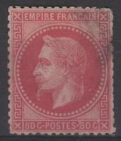 """FRANCE STAMP TIMBRE N° 32 """" NAPOLEON III 80c ROSE 1867 """" NEUF (x)  A VOIR  N156"""