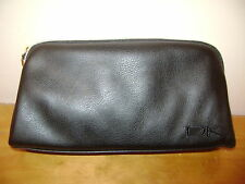 DKNY Makeup Cosmetic Bag Black Clutch Soft Faux Leather - NEW & 100% Authentic