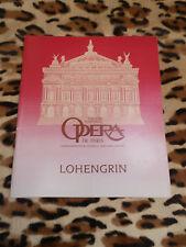 PROGRAMME - Opéra de Paris - Lohengrin, Wagner - 1982