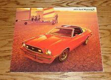Original 1977 Ford Mustang II Sales Brochure 77 Mach 1 GHIA Cobra 1/77