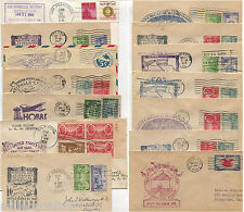 USA, SET 14 COVERS, FIRST FLIGHT ANNULS                                 m