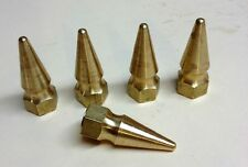 5 SOLID BRASS SPIKE NUTS 8mm-1.25 chopper bobber cafe 8mm M8 cb750 xs650 pike
