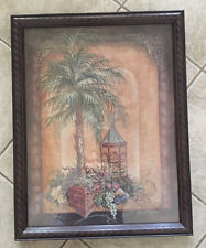 Home Interiors Palm Tree Fruit Cage Large Wall Art Dated 2003 Margie Whittington