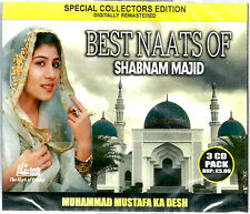 SHABNAM MAJID - BEST NAATS OF SHABNAM MAJID - BRAND NEW 3CDs COLLECTORS SET