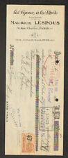 """PARIS (III°) FABRIQUE de BIJOUX """"LES BIJOUX A LA MODE / Maurice LESPOUS"""" en 1925"""