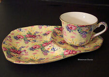 Royal Winton Chintz, Welbeck Tennis Set (snack plate) English Earthenware, new