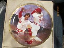 Pete Rose   Cincinnati Reds Gartlan Signed Autograph Plate   limited