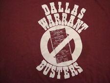 Vintage 70's Dallas Texas Warrant Busters Police Court 50/50 T Shirt L xl