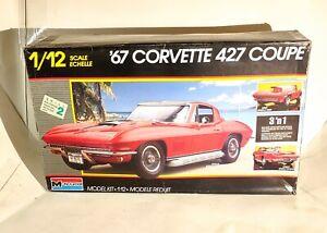 Monogram 1967 Chevrolet C3 Corvette 427 Coupe 3 in 1 kit# 2801 1:12