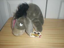 """Mouseketoys Disney Eeyore Sad Grey Donkey Soft Plush 10"""" NWT"""