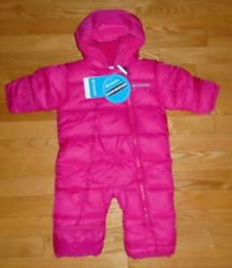 Columbia Sportswear Baby Girls Frosty Freeze Bunting Snowsuit Pink 3-6M NWT