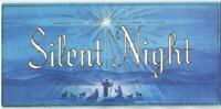 VINTAGE CHRISTMAS STAR OF BETHLEHEM WISE MEN SHEEP SHEPHERDS SILENT NIGHT CARD