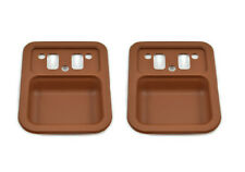 One Pair of Saddle Door Handle Cups XT-XW-XY Falcon & ZB-ZD Ford Fairlane