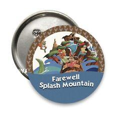 """Farewell Splash Mountain"" Disney Parks Inspired Handmade 3"" Pin Button"