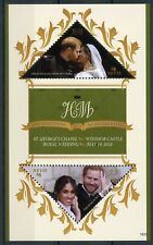Nevis 2018 MNH Prince Harry & Meghan Royal Wedding 2v S/S Royalty Stamps