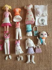 "Polly Pocket Doll Lot ""Colors of the Rainbow"" White Pet Clothes Outfits 6-47"