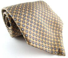Bert Pulitzer Harry Jacobson Cleveland Silk Tie Tan Brown Dots Circles