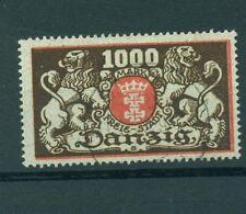 "FREE CITY OF DANZIG - GERMANY 1923 ""CIty Coat"" 1000 M"