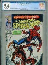 1992 MARVEL AMAZING SPIDER-MAN #361 1ST APPEARANCE CARNAGE CLETUS KASADY CGC 9.4