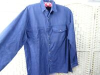 vintage corduroy cotton shirt cotton long sleeved chunky blue soft size L