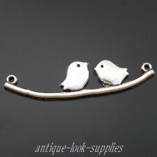 39620 Antique Silver Alloy Lovely Birds Pendant Charms Jewelry Connectors 30pcs