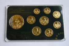 Montenegro (Crna Gora) Euro Prestige Specimen Set, Gold and Rhodium plated
