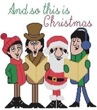 CROSS STITCH+ CRAFT PATTERN Beatles Lennon McCartney Ringo Harrison Christmas