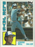 1984 TOPPS GEORGE JORGE BELL ROOKIE CARD#278 TORONTO BLUE JAYS CUBS WIHITE SOX