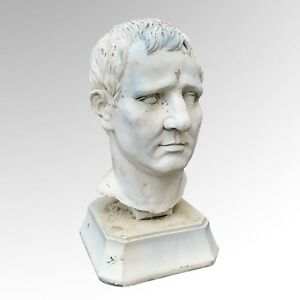 Vintage Stone Effect Weathered Decorative Bust Male Head Sculpture