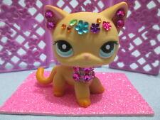 Littlest Pet Shop LPS Shorthair Kitty Cat #339 w/ Gem Collar Tiara Accessory!