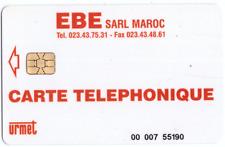 PROTOTIPI E PROVE  URMET A CHIP EBE SARL MAROC CARTE TELEPHONIQUE CON OCR