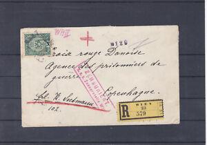 Reco Brief Wien - Kopenhagen K.u.K. Zensurstelle gel. mit Ankunftstempel