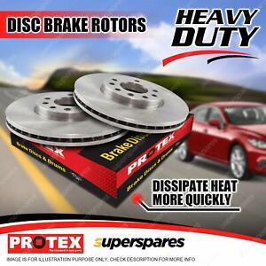 Pair Front Protex Disc Brake Rotors for Fiat Panda Ritmo 500C 500 07-on