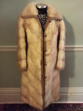 Vtg FUR COAT FULL LENGTH Bleached Muskrat by Patchin Furs