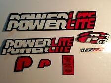NOS BMX POWERLITE P47 decal  STICKER SET
