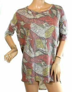 LulaRoe Irma Women's Top Geometric Print Multicolor Size 2XS  (712)